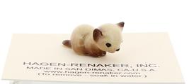 Hagen-Renaker Miniature Cat Figurine Tiny Siamese Kitten Lying Chocolate Point image 1