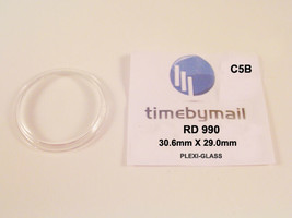 Watch Crystal For RADO 990 Plexi-Glass 30.6mm X 29mm Replacement Spare Part C5B - $19.83