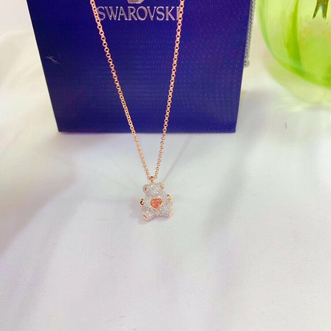 Swarovski crystal TEDDY pendant fashion Necklace jewelry gift