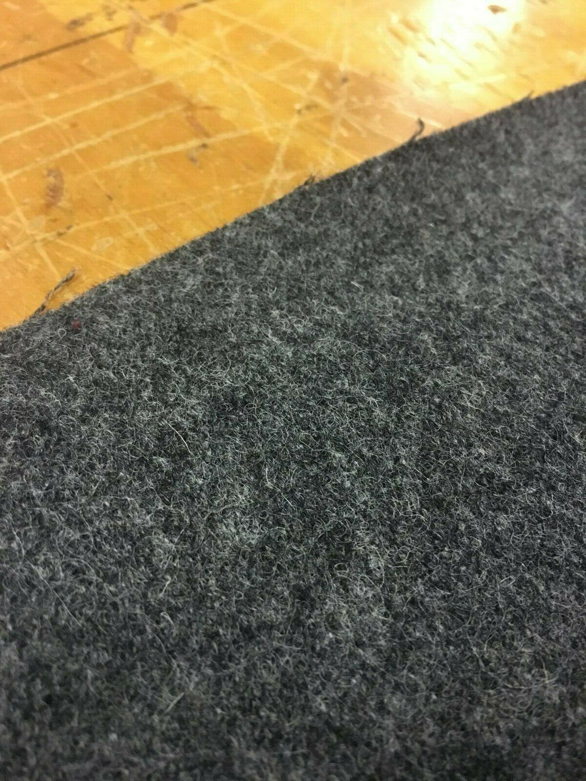 Mid Century Charcoal Gray Wool Upholstery Fabric 3.75 yards GX