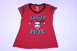 Women's Harley Quinn M (7/9) T-Shirt Tee (Red) DC Comics - $14.01