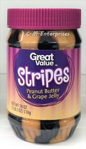 Great Value Stripes Peanut Butter & Grape Jelly 18 oz - $5.20