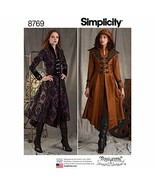 Simplicity 8769 Women's Medieval Cosplay and Ren Faire Costume Coat Sewi... - $7.80