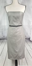 Banana Republic Gray Brown Strapless Slim Column Formal Evening Dress-Si... - $59.99