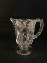 MCKee JUBILEE EAPG Clear Glass Creamer Footed ISIS NELLIE RADIANT DAISY VFC - $14.95