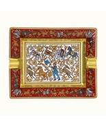 Hermes Ashtray Change Tray Red, Gold Collectible Porcelain NEW - $989.00