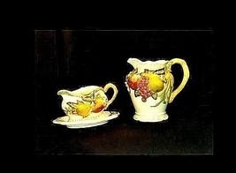 Ceramic Pitcher, Gravy Dish and Plate AB 758 Vintage 3 Piece image 2