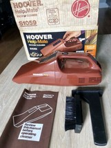 Vintage Hoover S1059 Help Mate Handheld Car Detail Vacuum Cleaner with Box - $34.65