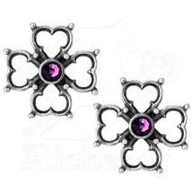 Lovely Alchemy Gothic Elizabethan Purple earrings. New - $20.00