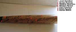 Derek Jeter David Ortiz Vladimir Guerrero signed Baseball Bat - $632.00