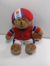Gund MVB Stuffed Plush Bear Football Uniform Baby Rattle Soft Sound 12 - $21.55