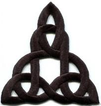 Celtic knot Irish goth biker tattoo retro magic applique iron-on patch n... - $3.16