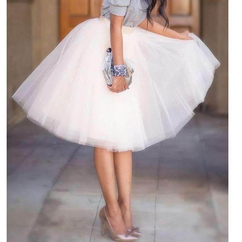 Daisy dress for less skirts layered pleated women knee length tulle skirts 1402012696607