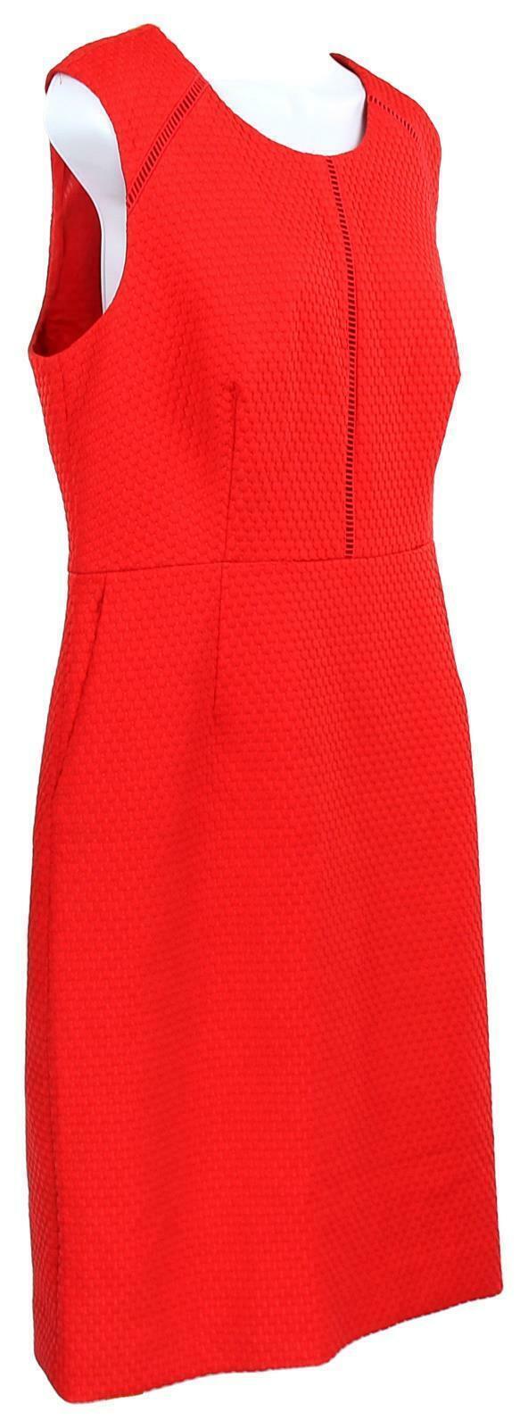 J Crew Women's Portfolio Sheath Dress /Suiting Career Work Red  12 F0791 image 2