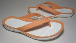 Crocs Size 8 SWIFTWATER FLIP Grapefruit White Sandals New Womens Shoes - $64.35