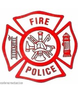 FIRE POLICE Fire Department Decal  FIRE POLICE Inside Window STATIC Clin... - $2.92