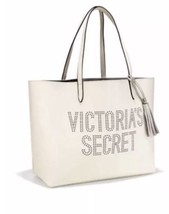 NWT Victoria's Secret White/Silver Ltd Edition Tassel Tote Bag~Retail $78.00 - $49.99