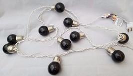 10 Plastic Black Purple Lightbulb Christmas Tree Light Bulb Covers strin... - $14.50
