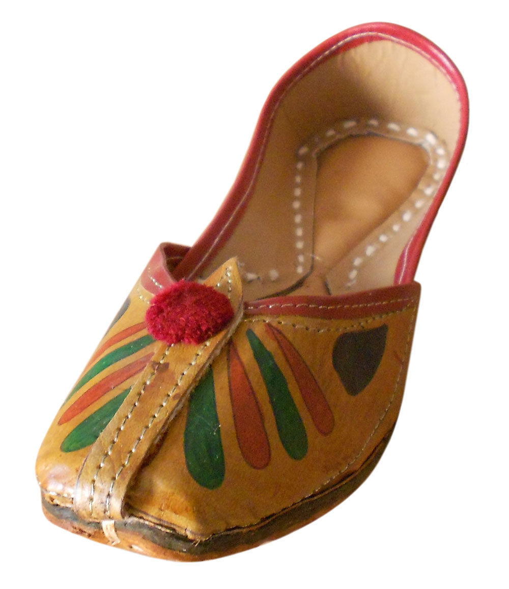 Primary image for Women Shoes Indian Handmade Traditional Mojari Ballet Flats Groom Jutti US 7.5