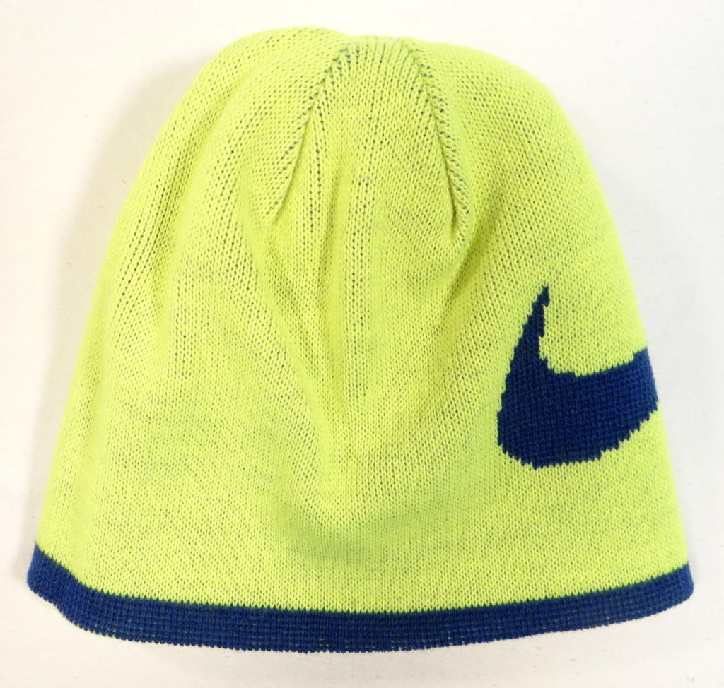 Nike Reversible Blue /& Red Knit Beanie /& Stretch Knit Gloves Youth Boy/'s 4-7 NWT
