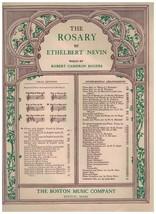 Sheet Music - The Rosary ~ 1898 & 1912 ~ Ethelbert Nevin ~ Robert Camero... - $9.85