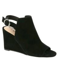 Sam Edelman Warick Black Suede Size 9.5 Peep Toe Booties Wedges Sandals ... - $69.29