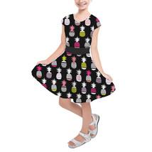 Neon Pineapples Girls Short Sleeve Skater Dress - $39.99+