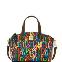 Dooney & Bourke Black Cotton Zip Top Closure Gold-Tone Hardware Ruby Bag - $399.99
