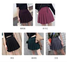 Women Girls Black Pleated Skirt Plus Size Black Pleated Mini Skirt Tennis Skirt image 5
