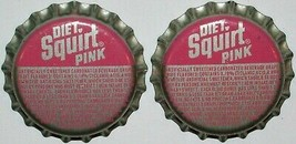 Soda pop bottle caps Lot of 12 SQUIRT 6 for 1 cent cork lined new old stock