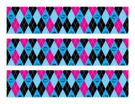 Monster High edible cake strips cake wraps party decorations - $7.80
