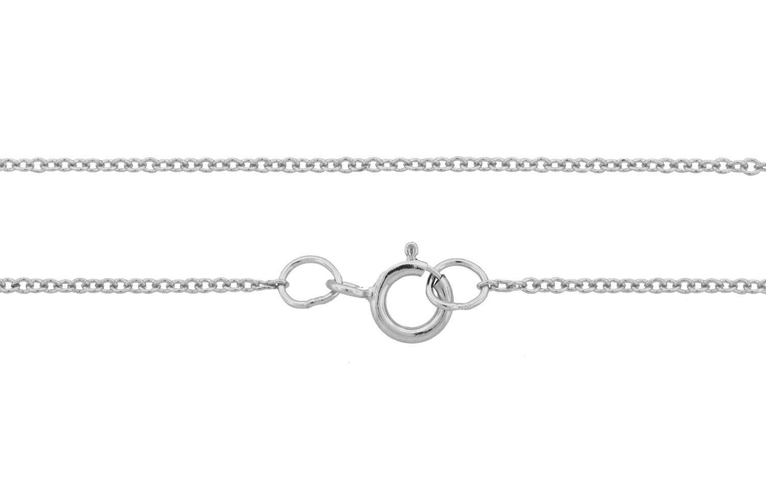"Primary image for Chain, Cable  W/ Spring Ring Clasp, Sterling Silver, 1.2mm 18"", 25pcs (3338)/25"