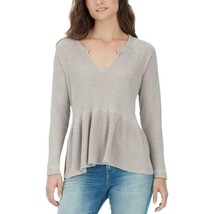 William Rast Women's Gryphon Peplum Beige Casual Top Size Large Msrp$69.50 - $13.23