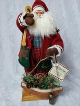 "St Nicholas Square Spirit Of Santa Lodge Santa 18"" Father of Christmas F... - $36.47"