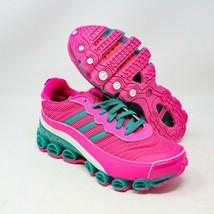 adidas MicroBounce T1 Running Shock Pink Green White EF4886 US 8.5 UK 7 ... - $94.04
