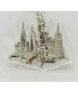 NEW YORK Statue of Liberty Skyline Travel Vacation Silver Tone Keychain ... - $4.99