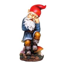 Sleeping Garden Gnome Resin and Hand Painted Statue - $59.38