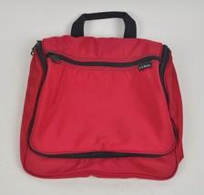 NWOT LL BEAN Red Nylon Hanging Toiletry Bag w/ Mirror Travel Camping Org... - $18.32