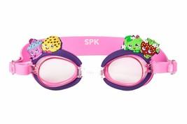SHOPKINS CUPCAKE CHIC AntiFog Super-Soft Watertight Seal Swim Goggles w/... - $12.99