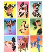 pinup girl fairies altered vintage art aceo collage sheet print craft pa... - $3.99