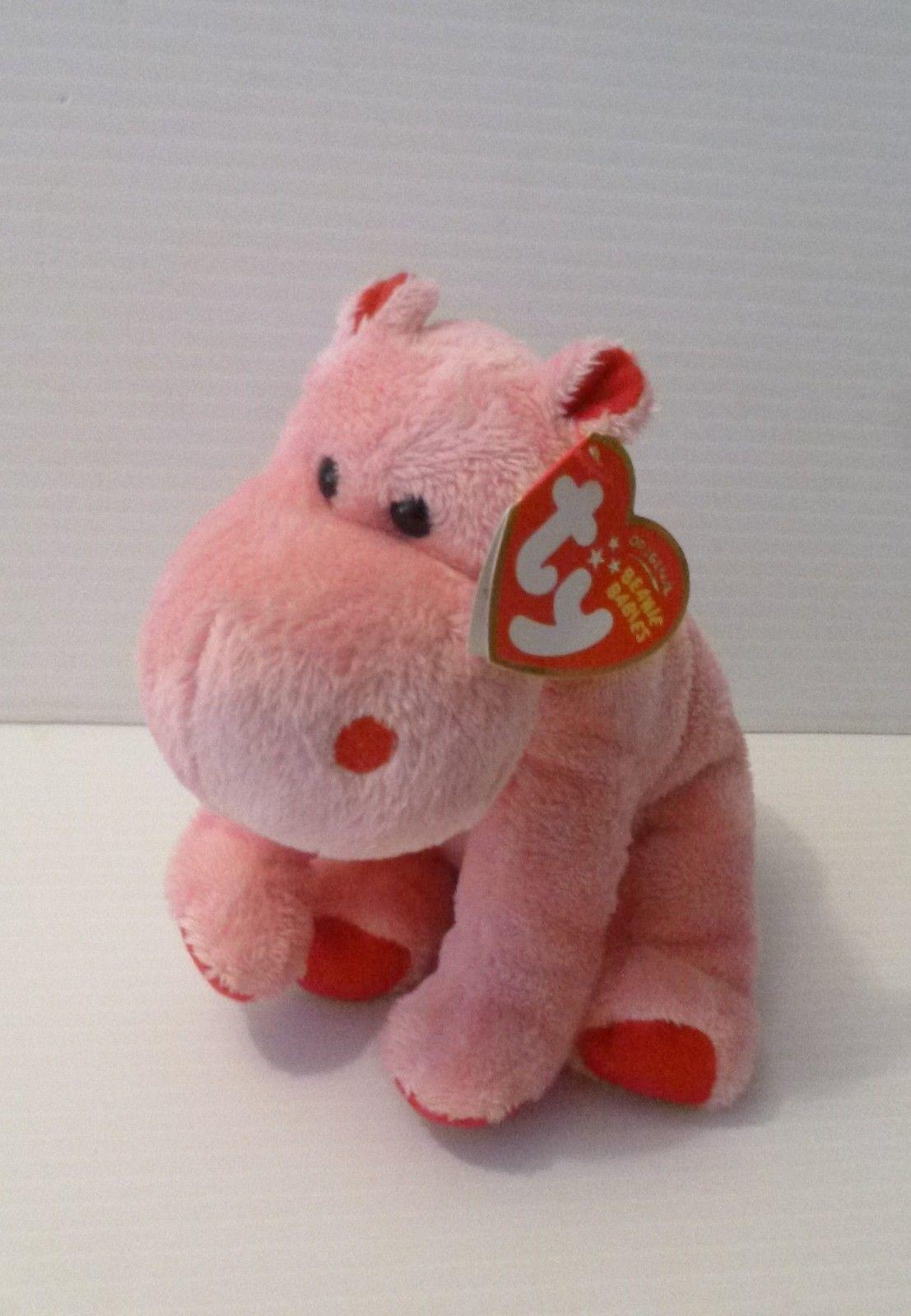 e0ef8abb0a3 Ty original beanie babies pink hippo