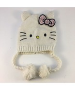 Hello Kitty by Sanrio Licensed Knit Girls (4-14) Acrylic Beanie Hat w/ T... - $15.83