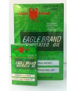 EAGLE Brand Medicated Oil - 1 Dozen (24 ml x 12) - DAU GIO XANH CON O - $65.29