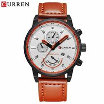 Curren 8217 Top Brand Luxury Quartz-Watch Leather Military Watch Wrist Male Cloc - $52.18