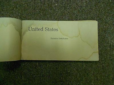 1960s 1970s Volkswagen Distributoren und Dealers North America Booklet Damaged