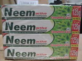 6 Tubes Neem Active Herbal Toothpaste 100% Vegetarian Xxl Usa Seller Fast Ship - $21.75