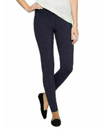 Matty M Women's Slub Ponte Pants Pull On Legging w/Pockets Blue Navy Sz XS - $14.64