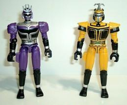 "Vintage 5"" 1997 Bandai Beetleborg Action Figures, Platinum Purple & Gold/Yellow - $14.95"