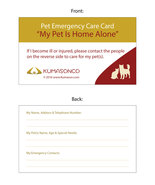 Pet Emergency Cards - CatDog (Pack of 6) - $11.00