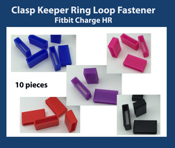 X10 Security Wrist band Fastener clasp Keeper Rings Fitbit Charge HR - $4.84